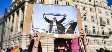 Manifestation en Hongrie contre une loi interdisant la représentation de l'homosexualité