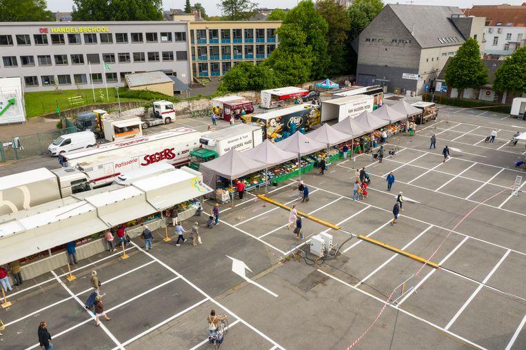De markt op de Keizershalparking.
