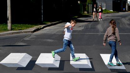 Eerste driedimensionale zebrapad in Duitsland is alweer weg