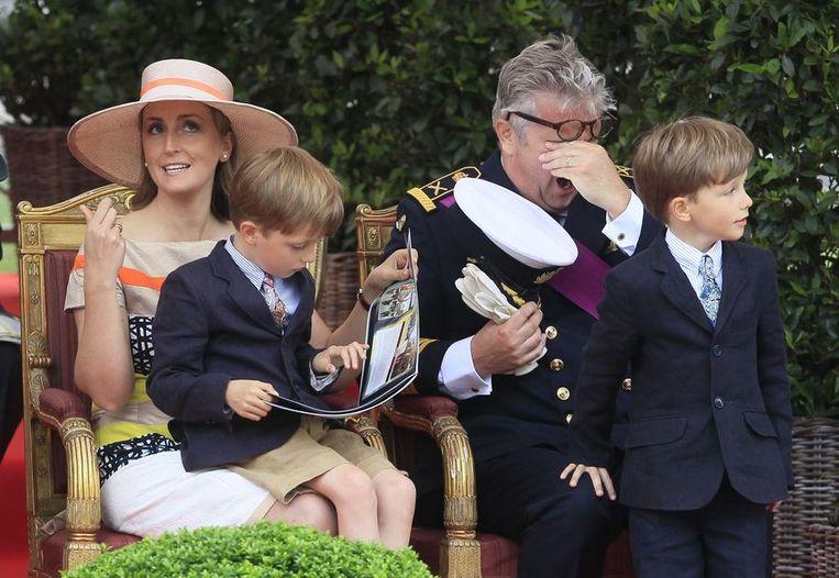 Prins Laurent vond het niet altijd even boeiend. Beeld REUTERS
