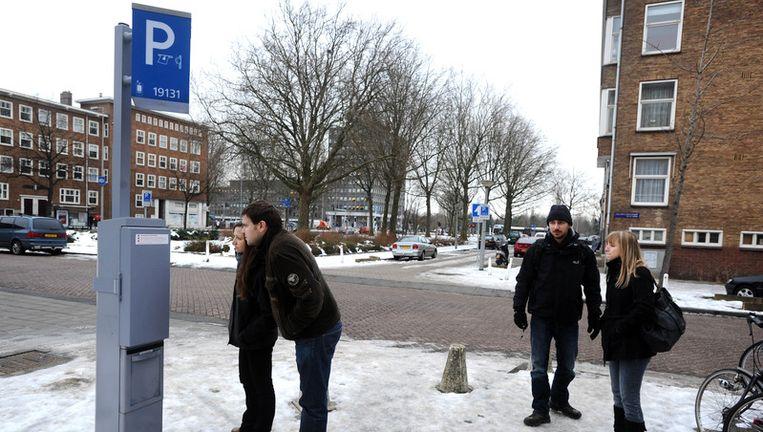 Een parkeerautomaat in Amsterdam. Foto ANP Beeld