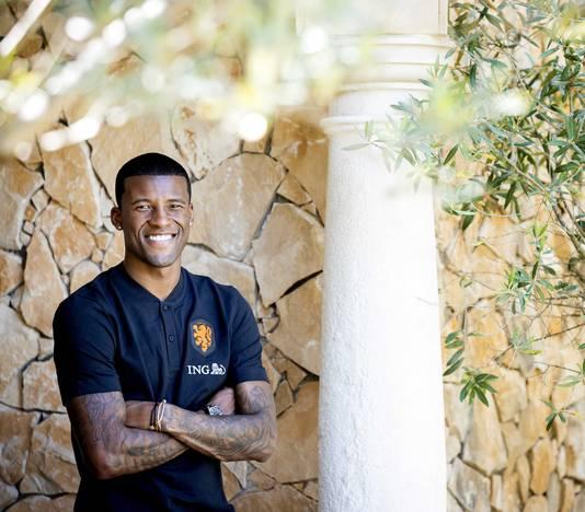Georginio Wijnaldum in Lagos, in het zuiden van Portugal, waar Oranje deze week traint.