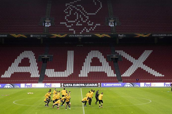 In de Johan Cruijff Arena zijn al maanden lang geen fans welkom wegens de coronaregels.