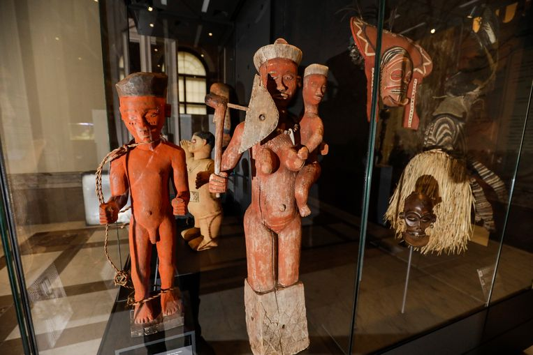 Ongeveer 1 procent van de collectie van het AfricaMuseum in Tervuren is zeker roofkunst, 40 procent  van de collectie heeft een onduidelijke herkomst. Beeld BELGA