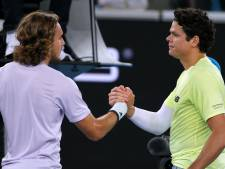Tsitsipas surpris par Raonic, Djokovic expéditif
