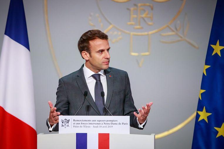 Frans president Macron. Beeld EPA