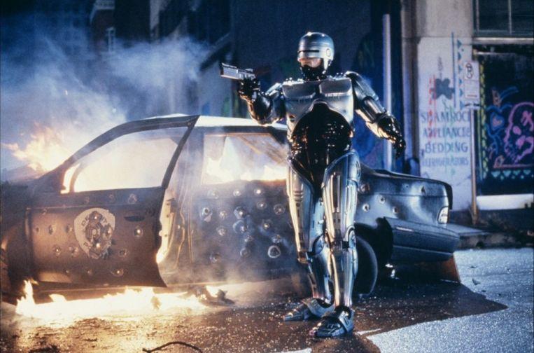 RoboCop, de Hollywooddoorbraak van regisseur Paul Verhoeven, vanavond te zien om 22.40 uur, RTL 7.  Beeld
