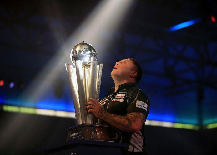 Gerwyn Price won het WK Darts in januari van dit jaar.