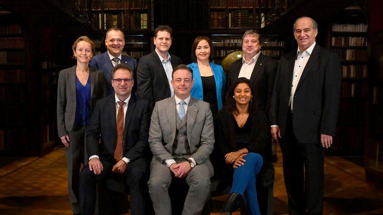 De nieuwe Antwerpse coalitie. Beeld Stad Antwerpen