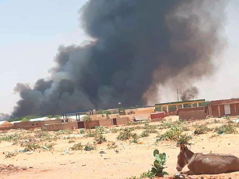 Vluchtelingenkamp in Darfoer. Beeld AP