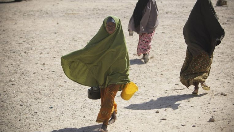 Extreme droogte heerst in de Hoorn van Afrika. Beeld reuters
