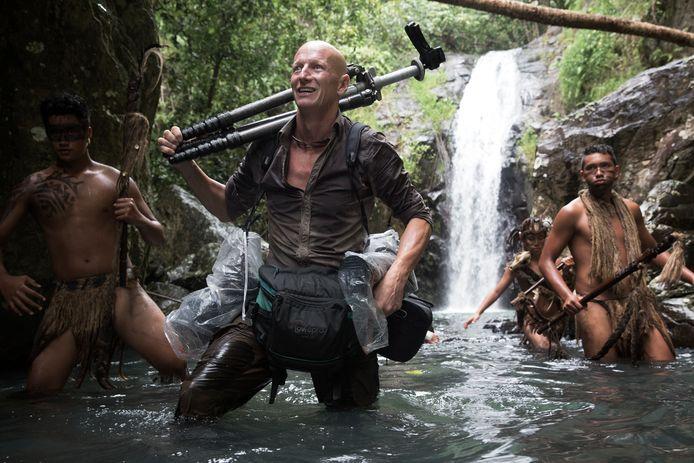 Fotograaf Jimmy Nelson in Frans Polynesië.