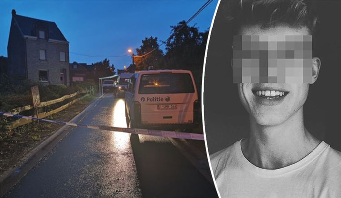 La maison où le suspect, Nick A. (à droite), attendait la police à côté du corps de son grand-père.