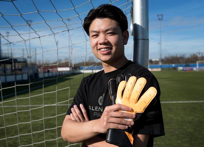 Utrecht - Ho-Chun Ko, de nieuwe keeper van Sportlust'46 (Foto Marnix Schmidt)