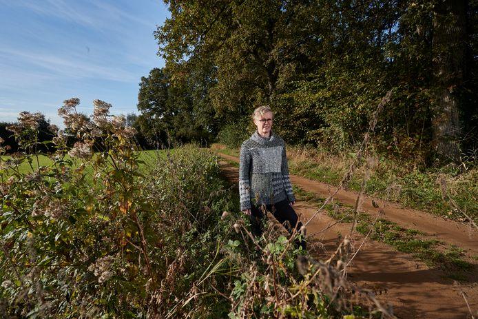 Andra Weg op de overharde Karnebeeksteeg die op 20 november onderdeel is van de klassementsproef Ruurlo.