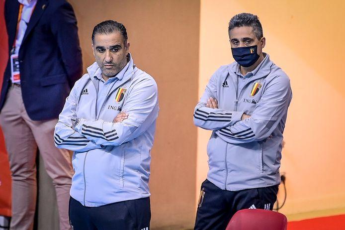 """De kers op de taart ontbreekt en dat is bijzonder jammer"", baalt  T2 Carmelo Nieddu (r., naast T1 Karim Bachar)."