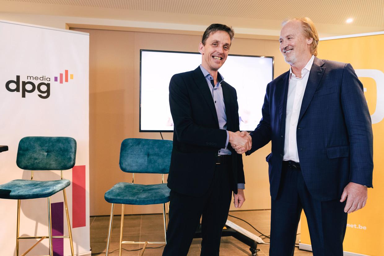 Persconferentie met Kris Vervaet (DPG Media) en John Porter (Telenet) n.a.v. de lancering van de
