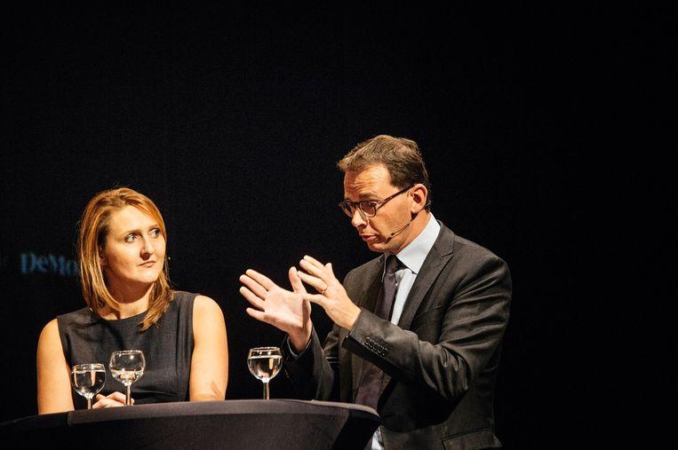 Gwendolyn Rutten en Wouter Beke. Beeld Wouter Van Vooren