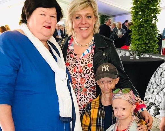 Ook federaal minister Maggy De Block kwam de kinderen een hart onder de riem steken