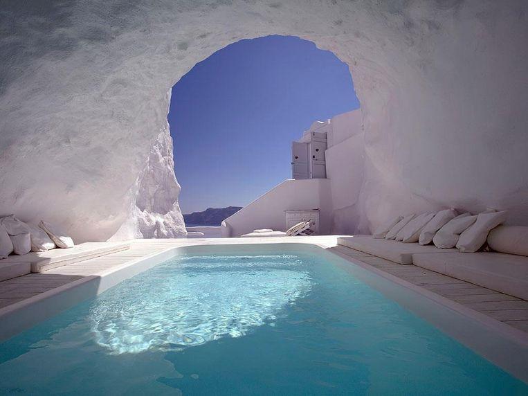 Zwembad in een grot.