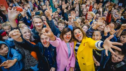 Nieuwe neuzen onthuld tijdens aftrap Rode Neuzen Dag op speelplaats in hartje Brussel