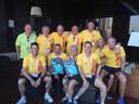 De twaalf fiere brandweermannen van Antwerp Fire Dragons haalden samen tien medailles.