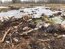 Op zoek naar mogelijke explosieven uit de oorlog en na de kap van bomen, vond Landschap Overijssel in 2020 deze dumpplaats.