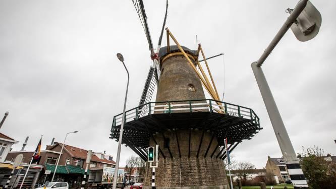 Monsterse korenmolen De Vier Winden door verouderde lassen weer weken buiten gebruik