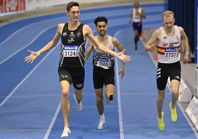 Ruben Verheyden (3124) met goud op het BK indoor 1500m.
