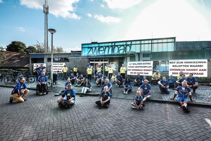 Een demonstratie bij de Hoevert in Didam. Archieffoto.