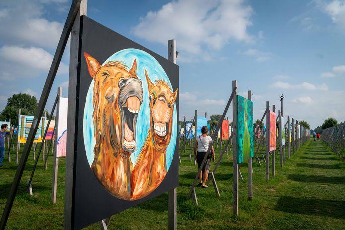Veel dieren op de kunstwerken in Park Lingezegen.