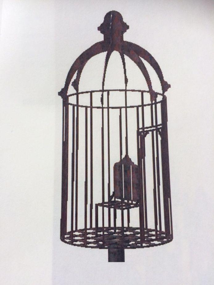 De omstreden kooi waarin prostituees werden gestraft.