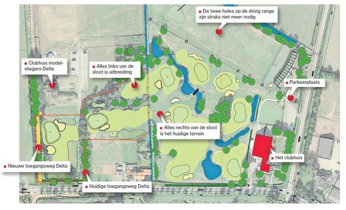 De golfbaan groeit met ruim een hectare.
