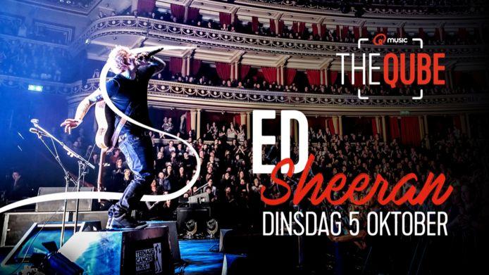 Ed Sheeran komt naar de Qube.
