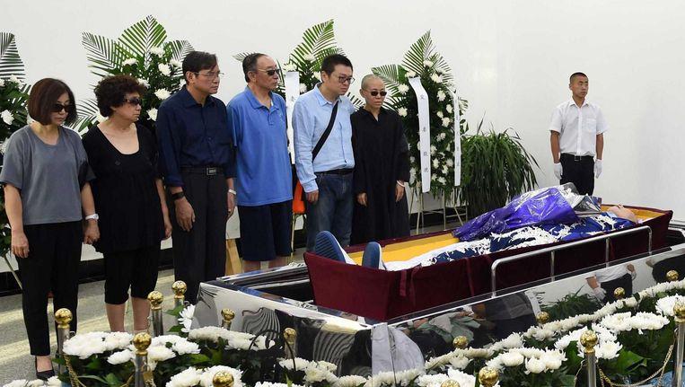 Xiaobo ligt opgebaard in de Chinese stad Shenyang Beeld afp