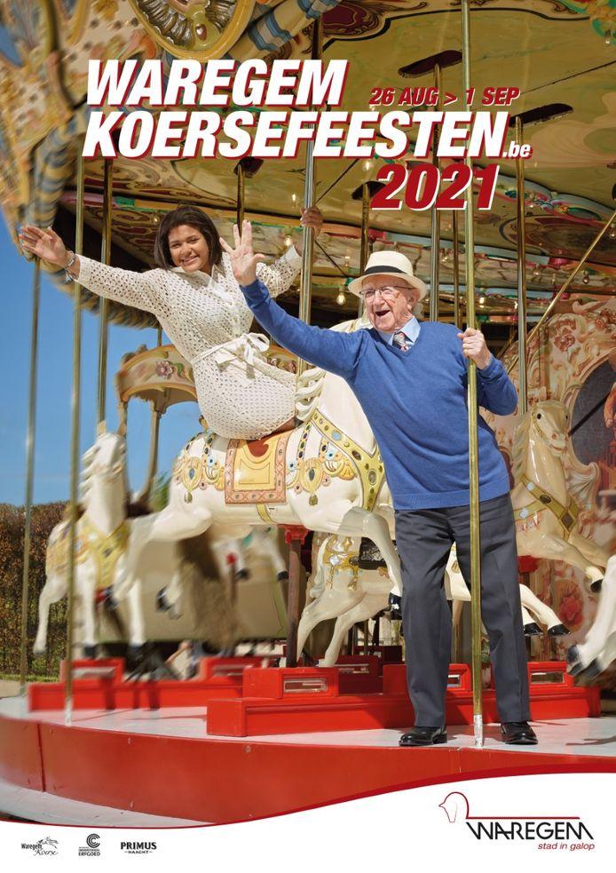 Manon Commère en Jan Callens schitteren op het nieuwe campagnebeeld van de Waregem Koerse Feesten.