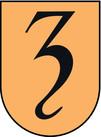 Het schild van het gemeentewapen van Zevenaar.