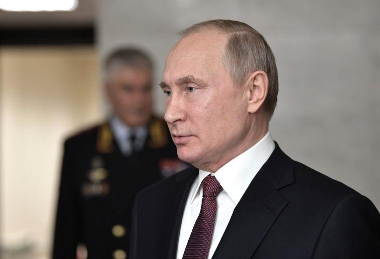 Volgens Vladimir Poetin heeft Rusland niets te maken met de moord, eind augustus in Berlijn. Beeld Reuters