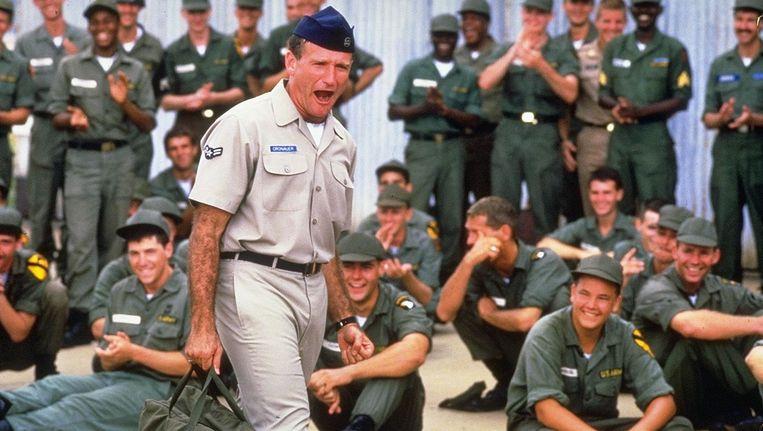 Robin Williams in de film Good Morning, Vietnam. Beeld anp
