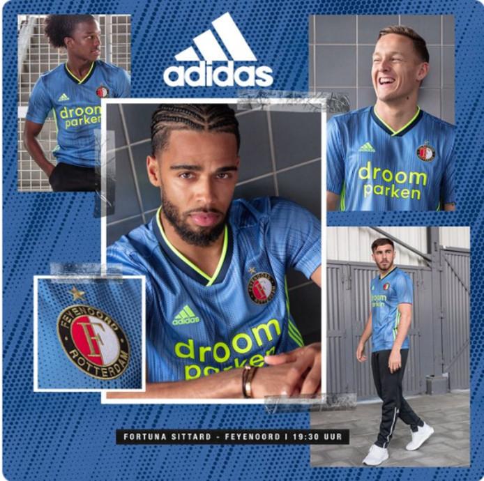 Het nieuwe uitshirt van Feyenoord.