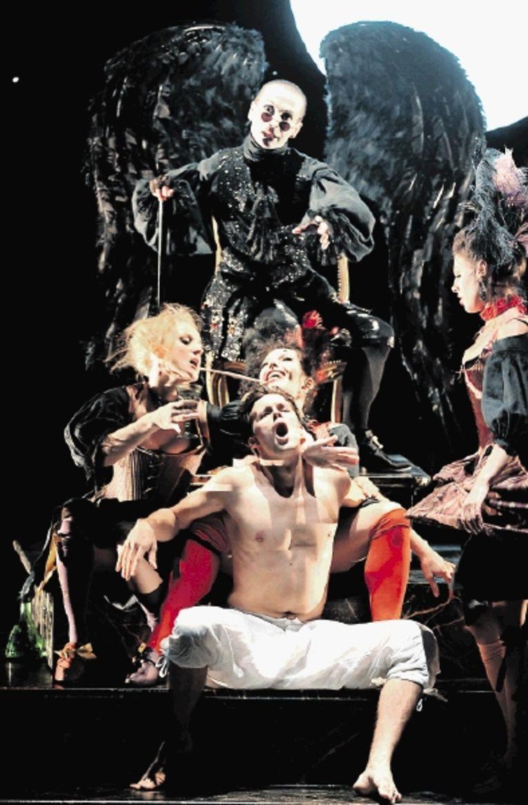 Recente uitvoering van de opera 'Orlando' van HÃ¿ndel. (FOTO AFP) Beeld AFP