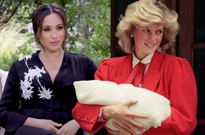 Meghan Markle en prinses Diana.