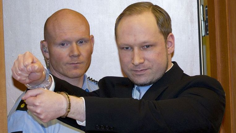 Anders Breivik Beeld afp