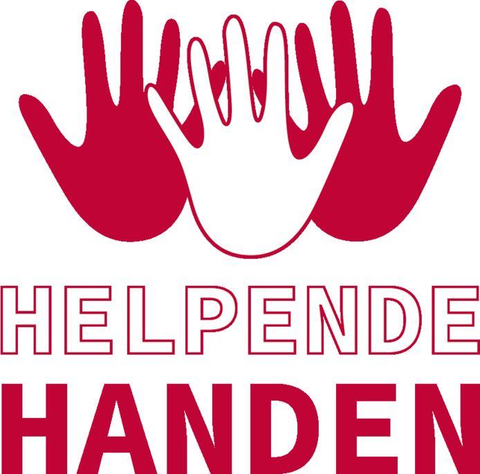 Het HLN-logo Helpende Handen, als koepel van alle acties