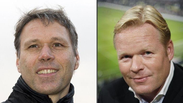 Marco van Basten (links) en Ronald Koeman. © ANP Beeld