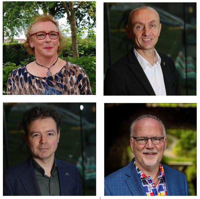 WijApeldoorn bestaat uit (van linksboven met de klok mee) Lilian Haak, Jeroen Slikker, Robert van Vliet en Gavin Treep.