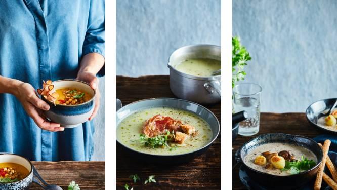 Pompoen, bospaddestoelen of savooikool: met deze 3 soepen maak je het extra gezellig deze herfst