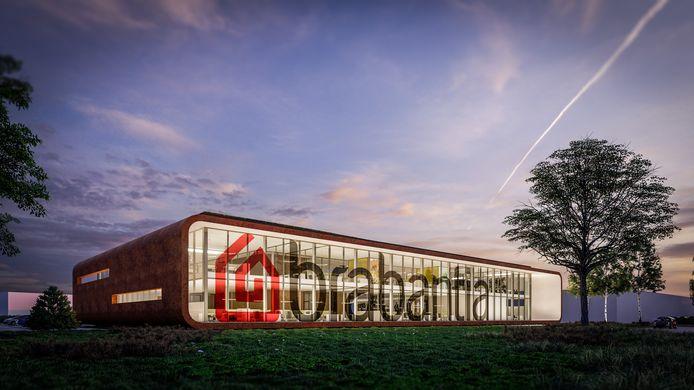 Artist impression van nieuw kantoor Brabantia aan de Leenderweg in Valkenswaard