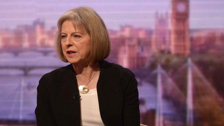 De Britse minister van Binnenlandse Zaken, Theresa May. Beeld Reuters