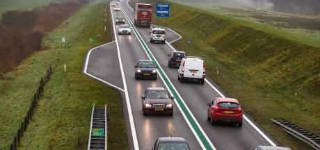 Verkeer muurvast op de N50 tussen Zwolle en Kampen na ongeval